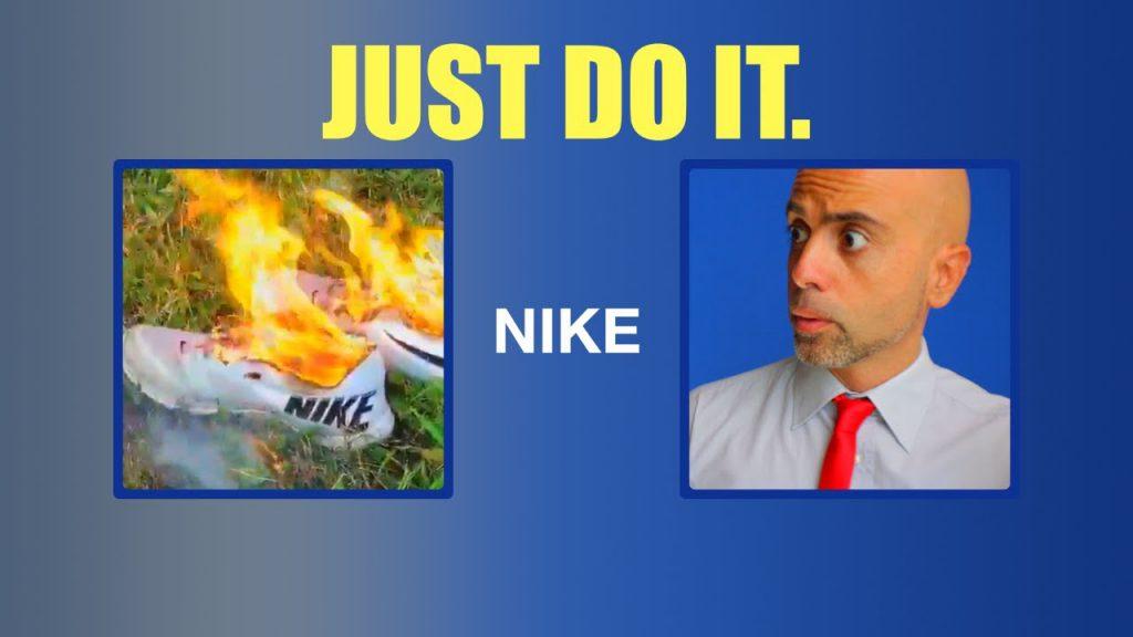 Perché Nike sceglie Kaepernick? Scarpe in fiamme